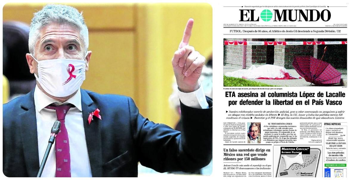 Marlaska acerca al País Vasco a otros cinco etarras, entre ellos al asesino del periodista López de la Calle