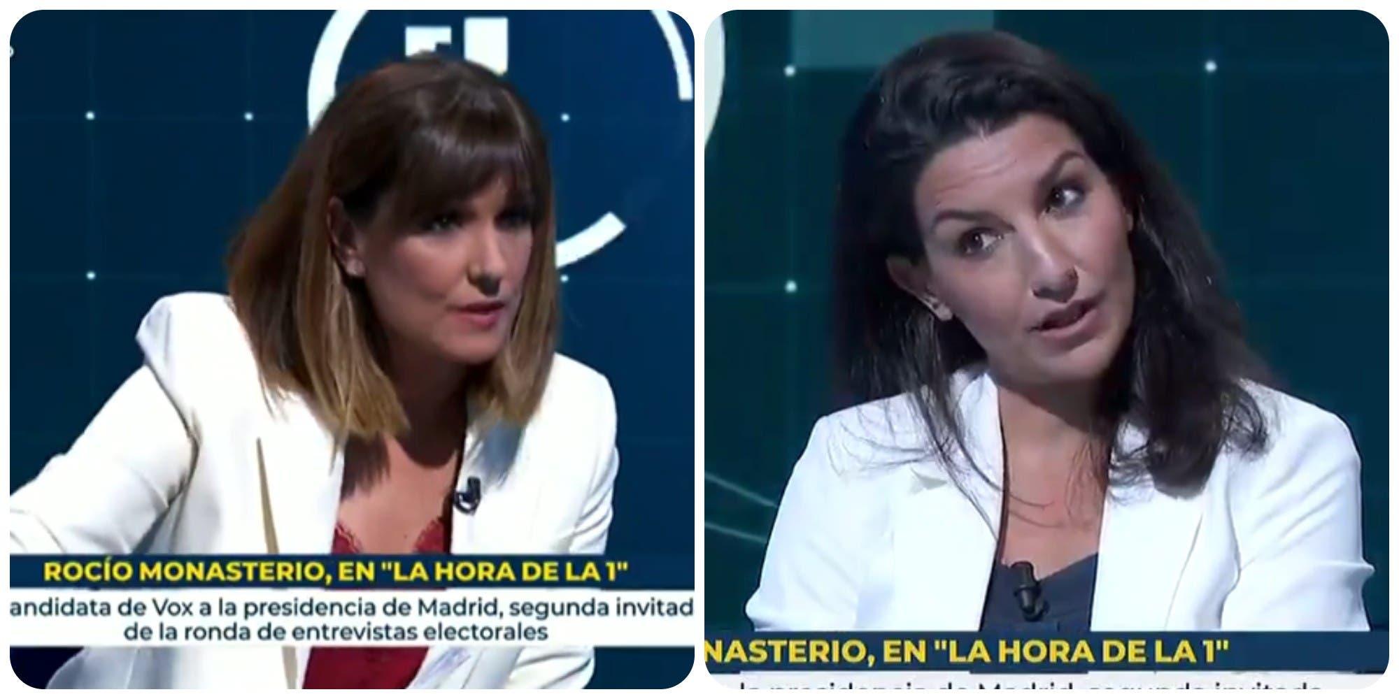 """Salvaje palo de la Junta Electoral a Mónica López (TVE) por su """"falta de neutralidad y ecuanimidad"""" con Monasterio"""