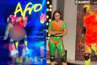 Escándalo en México: Una estrella de lucha libre da una nalgada a su compañera de baile y la regañan a ella