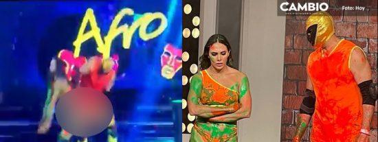 Escándalo en México: Una estrella de la lucha libre le da una nalgada a su compañera de baile y la regañan a ella