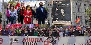 El Gobierno PSOE-Podemos, como hacía Franco, preside la marcha sindical del 1 de Mayo