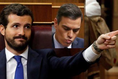"""Sánchez dice a Casado que se le está poniendo cara de Rivera y el del PP le pega el zasca del año: """"A usted, de Zapatero"""""""