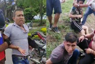 Un grupo de 'pacíficos manifestantes' secuestra y golpea a ocho policías en Colombia