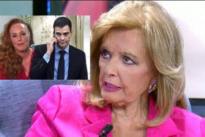 Teresa Campos revela que Pedro Sánchez, como antes Irene Montero, se encomienda a Rocío Carrasco