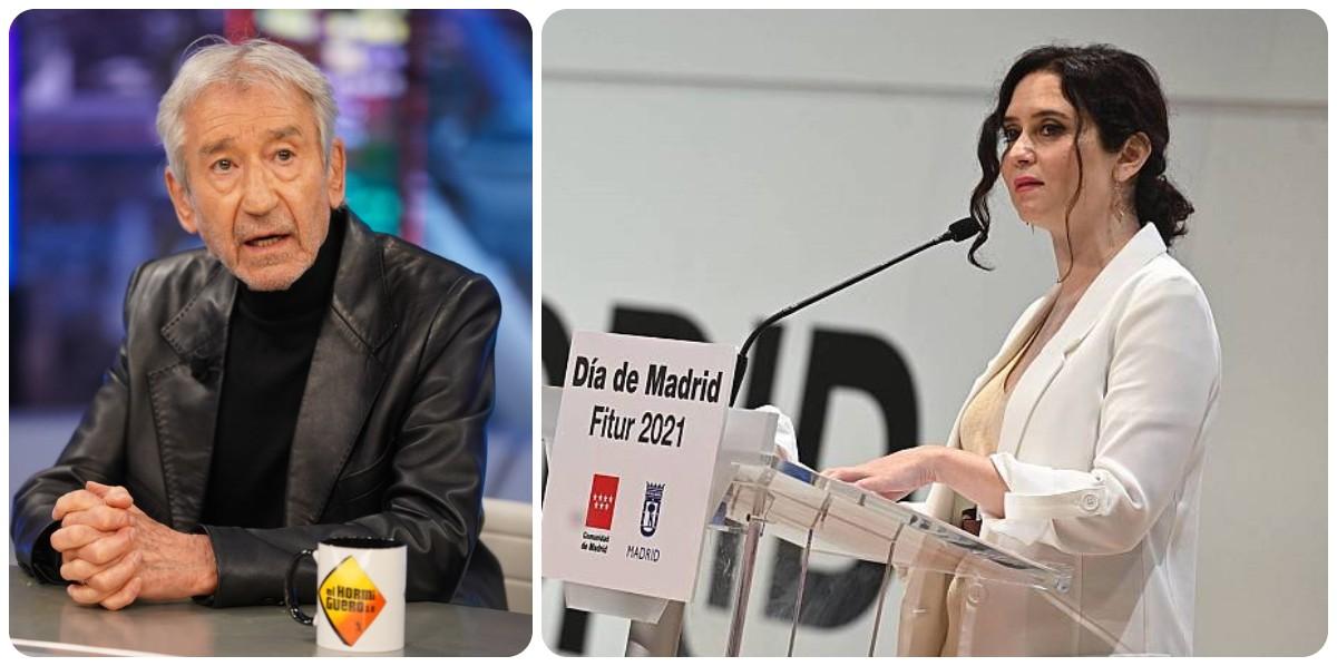 """El 'progre' José Sacristán pone firme a la izquierda: """"Quien regatee un elogio a Ayuso es un mezquino"""""""