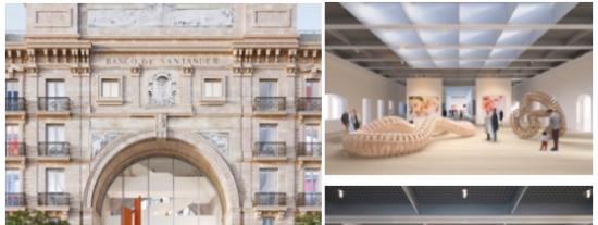 El edificio del Paseo de Pereda albergará más de mil obras de la colección del banco y espacios para la cultura.