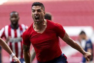 Liga: Suárez devuelve el liderato al Atlético en el '88', pero el Real Madrid todavía puede ser campeón
