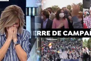 """Susanna Griso sufre un ataque de risa al oír la teoría del """"condón sanitario"""" del PSOE"""