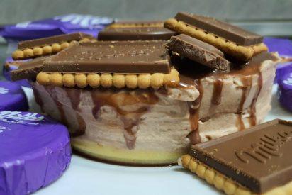Receta: cómo preparar tarta de chocolate Milka sin horno