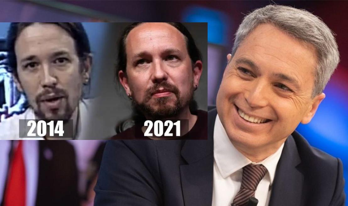 """Vicente Vallés: """"Pablo Iglesias ha envejecido muy rápido"""""""