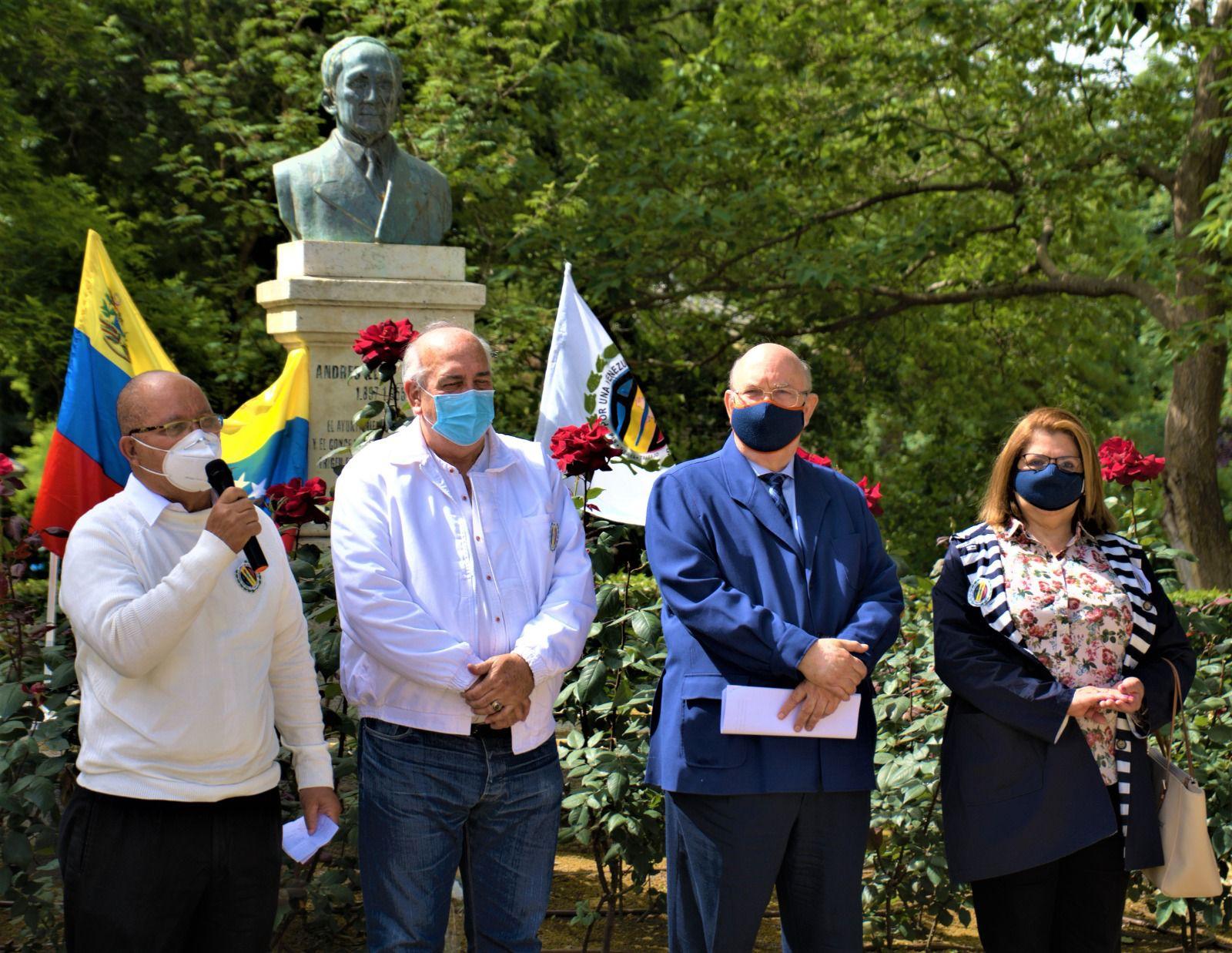 Políticos venezolanos homenajean al famoso Andrés Eloy Blanco en Madrid