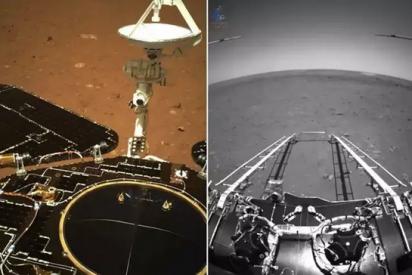 Desvelan las primeras imágenes del rover chino en de Marte