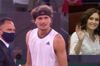 La tremenda ovación a Ayuso en el Mutua Madrid Open… que dejó patidifuso a Zverev