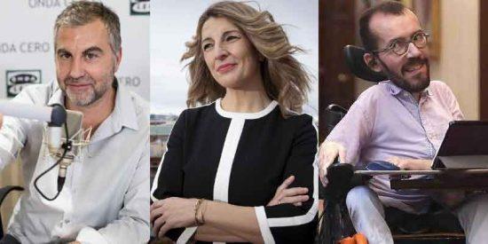"""Alsina, sobre Yolanda Díaz: """"Si la consigna ahora es menos Twitter, ¿qué va a ser entonces de Echenique?"""""""
