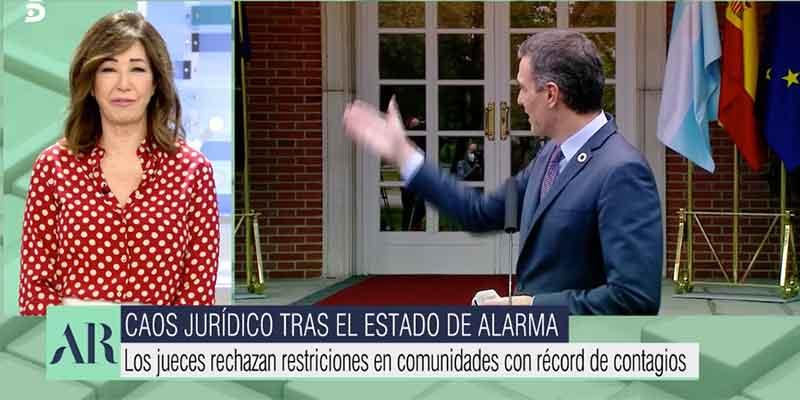 """Ana Rosa se mofa de las 'herramientas' del Gobierno a las CCAA: """"Pepe Gotera y Otilio, chapuzas a domicilio"""""""