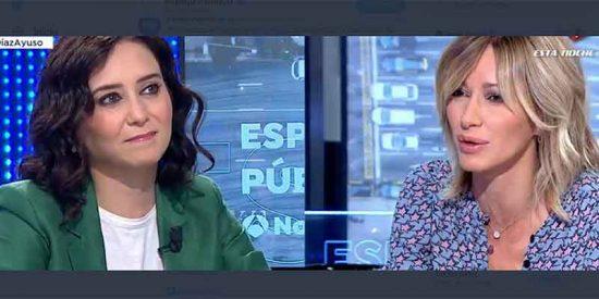 """Ayuso: """"La izquierda sigue sin asumir su derrota electoral: el 'sanchismo' está obsesionado con Madrid"""""""