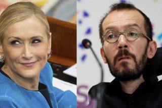 Cristina Cifuentes se ríe a la cara de Pablo Echenique por su infantil berrinche del 15-M