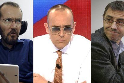 Echenique y Monedero 'enloquecen' al ver cómo RTVE y Risto Mejide vinculan a Pablo Iglesias con la 'invasión' a Ceuta
