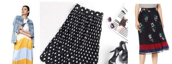 faldas midi plisadas