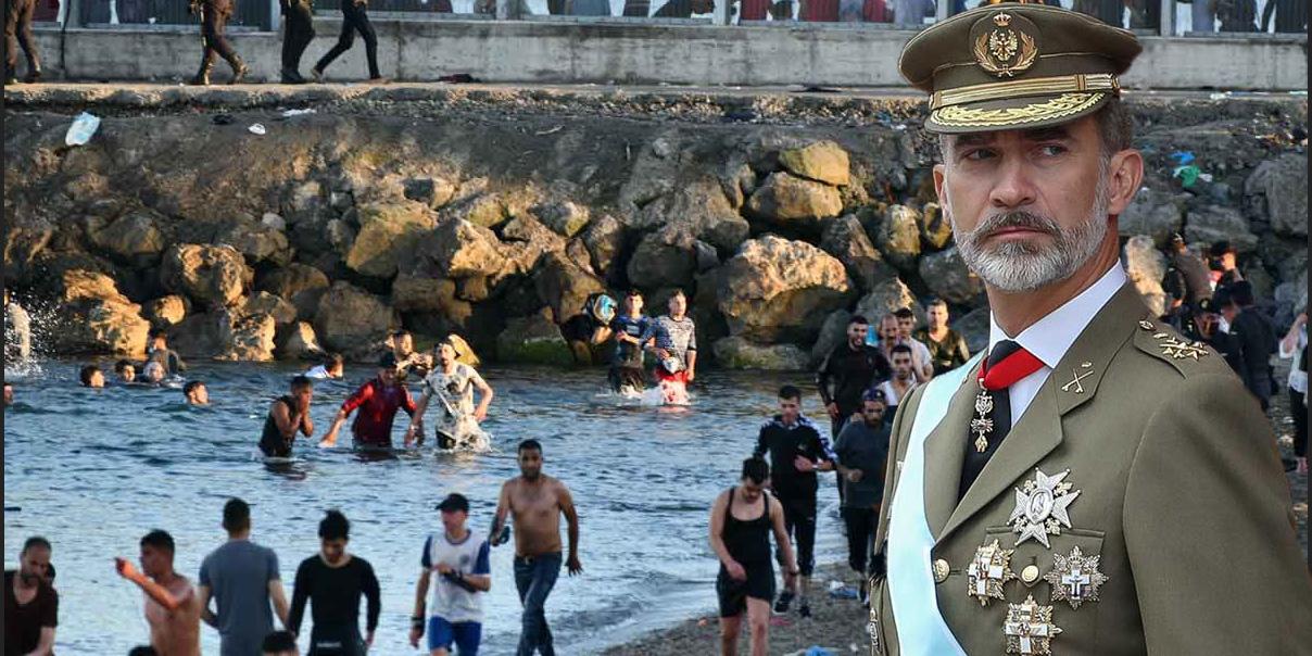 Ni la izquierda confía en Sánchez: los progres ruegan a Felipe VI que les salve de la 'invasión' a Ceuta