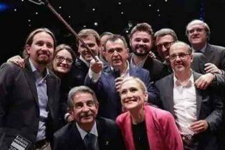 Una 'foto prohibida' de Pablo iglesias con Cifuentes, Albert Rivera y Gabilondo ve la luz y revienta las redes