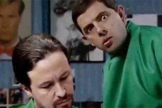 El vídeo que triunfa en la Red: Mister Bean le corta la coleta a Pablo Iglesias
