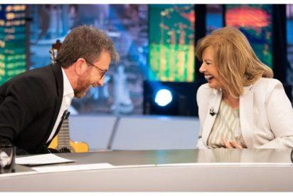 Pullas a Ana Rosa, sexo y Ayuso: la Campos demuestra en 'El Hormiguero' que ya no está para salir en TV