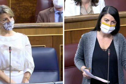 "Macarena Olona arrasa a Yolanda Díaz, heredera de Iglesias: ""No nos extraña que el 1M saliera a protestar contra usted misma"""
