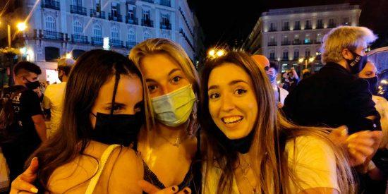 """Madrid: Una """"noche loca"""" en la Puerta del Sol"""