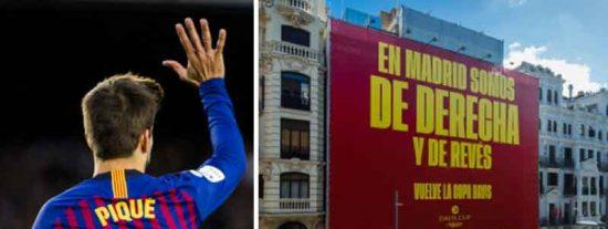 """A Gerard Piqué le va la marcha y anuncia así su Davis en la Gran Vía: """"En Madrid somos de derecha y de revés"""""""