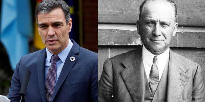 Pedro Sánchez reivindica con pasión y en pleno 2021 al socialista Largo Caballero, el 'Lenin español'