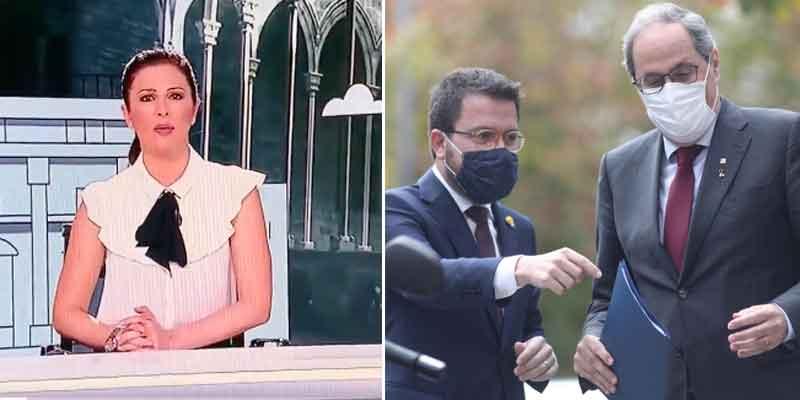 TVE, tan ultra como TV3: compra la propaganda separatista y 'convierte' a Aragonés en el presidente 132 de la Generalitat
