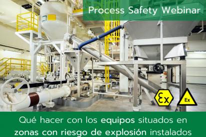 Qué hacer con equipos situados en zonas con riesgo de explosión instalados antes de 2003 y cumplir con ATEX