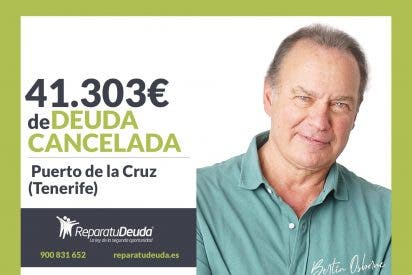 Repara tu Deuda Abogados cancela 41.303 € en Tenerife con la Ley de la Segunda Oportunidad
