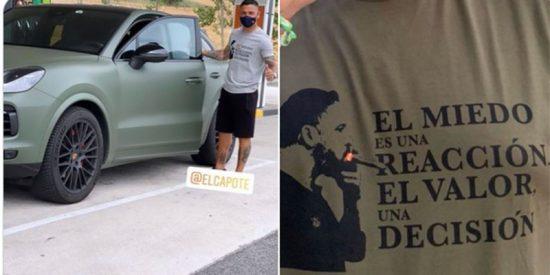 Las hordas podemitas y proetarras caen sobre 'Chimy' Ávila (Osasuna) por lucir una camiseta de Abascal
