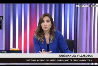 Una conductora de TV es sorprendida en vivo por el fuerte sismo que sacudió a Lima