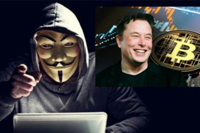 Anonymous amenaza a Elon Musk por manipular desde Twitter el precio del bitcoin