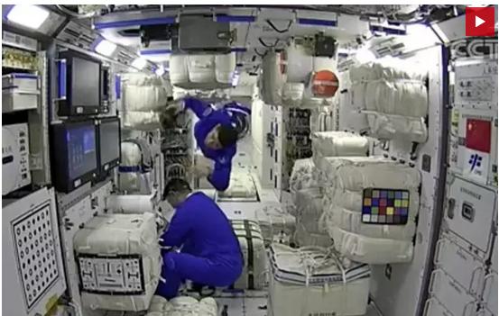 La estación espacial china aloja a sus primeros astronautas