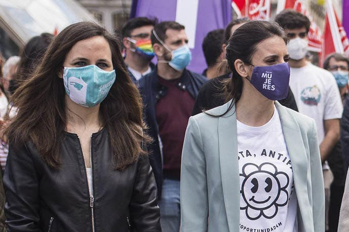 Unidas Podemos aprovecha el hallazgo del cuerpo de Olivia para colocar su discurso antimachista