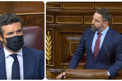 Santiago Abascal respalda a Pablo Casado y le anima a presentar una moción de censura a Pedro Sánchez