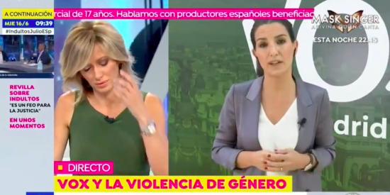 Las redes sentencian a Griso: Monasterio la aplastó en directo tras calificar a VOX de machista