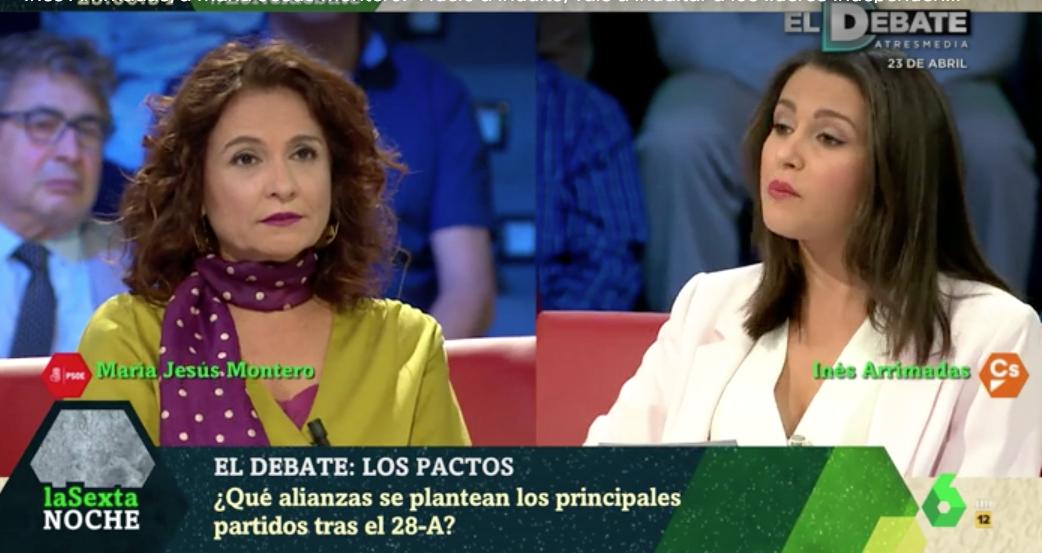 """El día que Arrimadas desmontó las mentiras de Montero en laSexta: """"Huelo a indulto, vais a indultar a independentistas"""""""