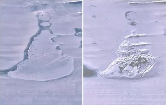 La extraña y repentina desaparición de un lago en el antártico