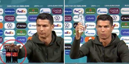 El simple gesto de Cristiano Ronaldo que hunde las acciones de Coca Cola