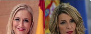 Cristina Cifuentes sacude a Yolanda Díaz por sus tres másteres falsos que oculta Moncloa