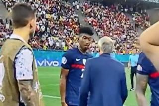 El tenso rifirrafe entre entre Deschamps y una estrella de Francia en la Eurocopa