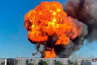 La impactante explosión de una gasolinera en Siberia