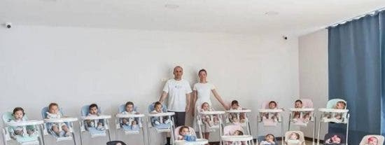 Esta pareja tiene 20 hijos en un año...tras recurrir a la gestación subrogada