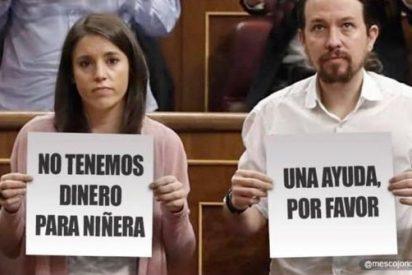 A Iglesias le meten el 'chupete' por el Caso Niñera: Denunciado por beneficiarse de la niñera-alto cargo de Irene Montero