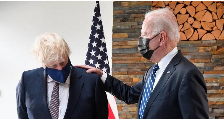 Así fue el primer encuentro entre Joe Biden y Boris Johnson en vísperas de la cumbre del G7